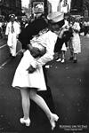 KISSING on VJ Day - WWII KISS
