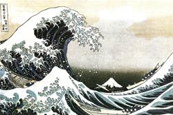 THE GREAT WAVE at KANAGAWA by HOKUSAI Poster