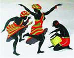 EBONY DANCERS by ROMEO DOWNER Poster - Style A